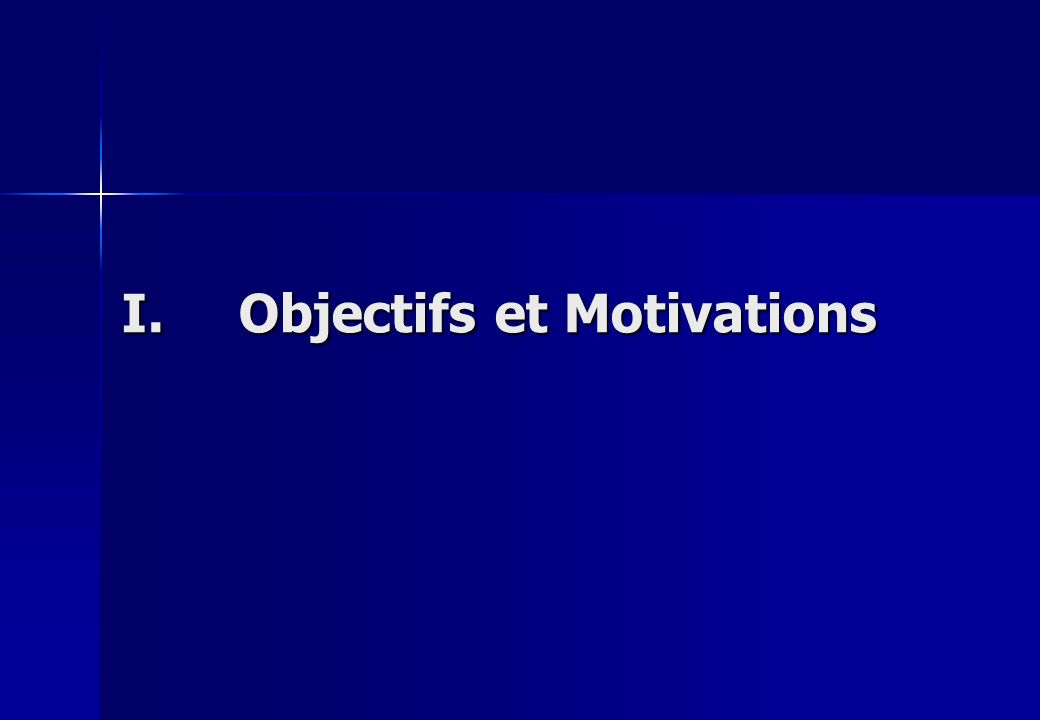 I.Objectifs et Motivations