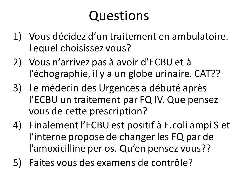 Questions 1)Vous décidez dun traitement en ambulatoire.
