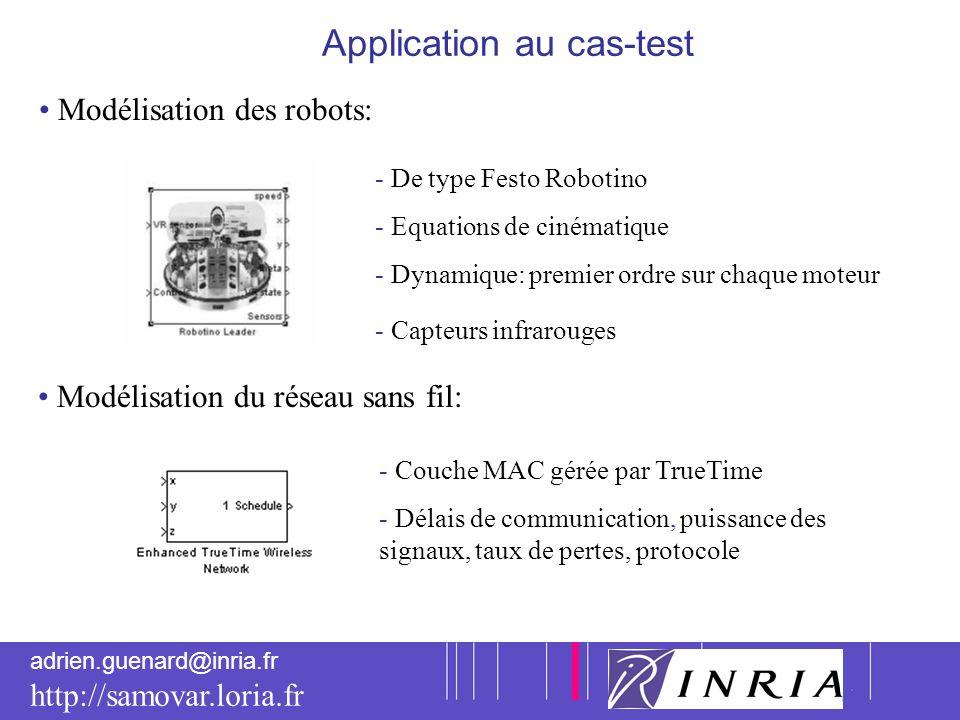 7 adrien.guenard@inria.fr http://samovar.loria.fr Application au cas-test Modélisation des robots: - De type Festo Robotino - Equations de cinématique