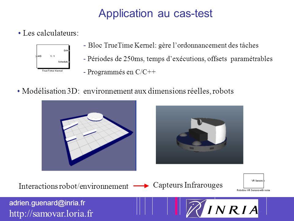 8 adrien.guenard@inria.fr http://samovar.loria.fr Application au cas-test Modélisation 3D: environnement aux dimensions réelles, robots Interactions r