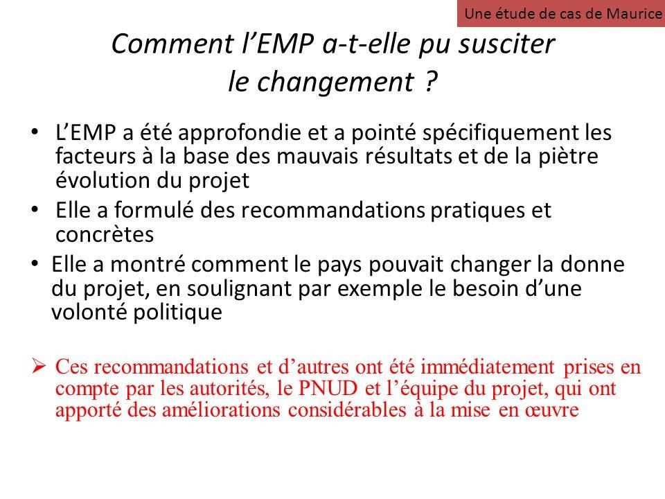 Comment lEMP a-t-elle pu susciter le changement .