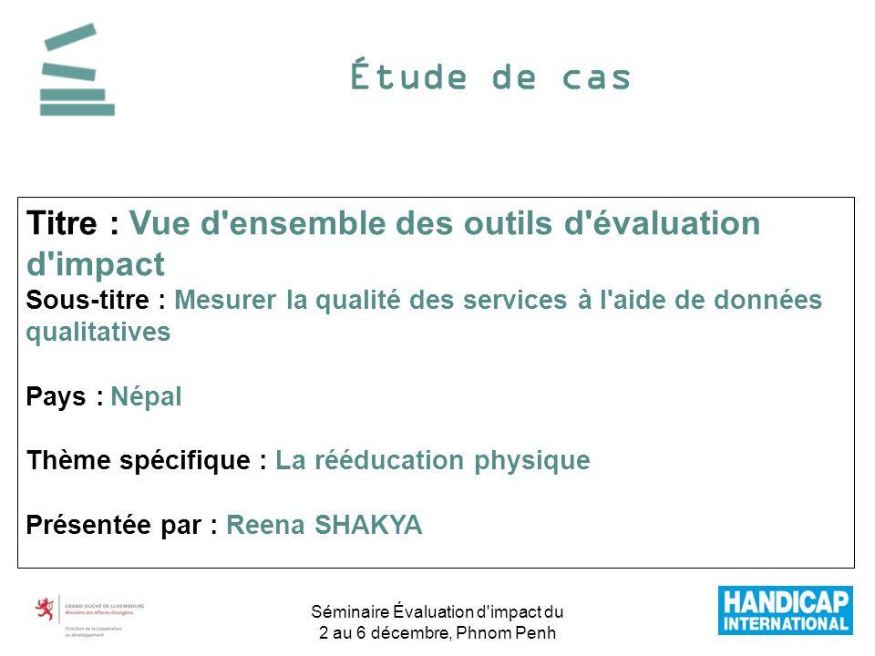 Étude de cas Titre : Vue d'ensemble des outils d'évaluation d'impact Sous-titre : Mesurer la qualité des services à l'aide de données qualitatives Pay