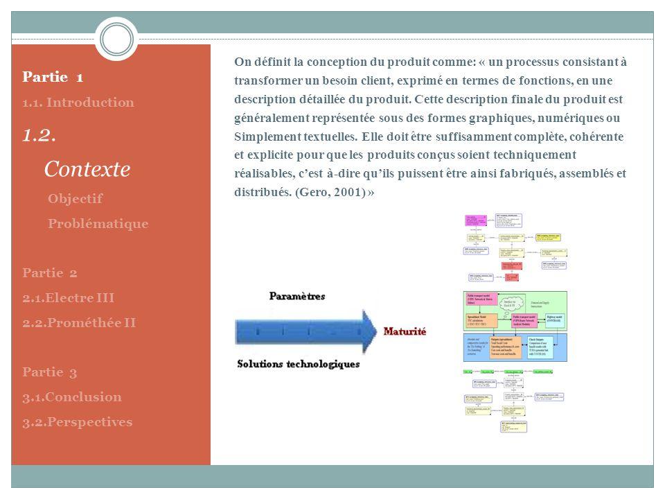 Partie 1 1.1. Introduction 1.2. Contexte Objectif Problématique Partie 2 2.1.Electre III 2.2.Prométhée II Partie 3 3.1.Conclusion 3.2.Perspectives On