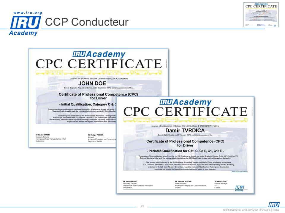 29 CCP Conducteur