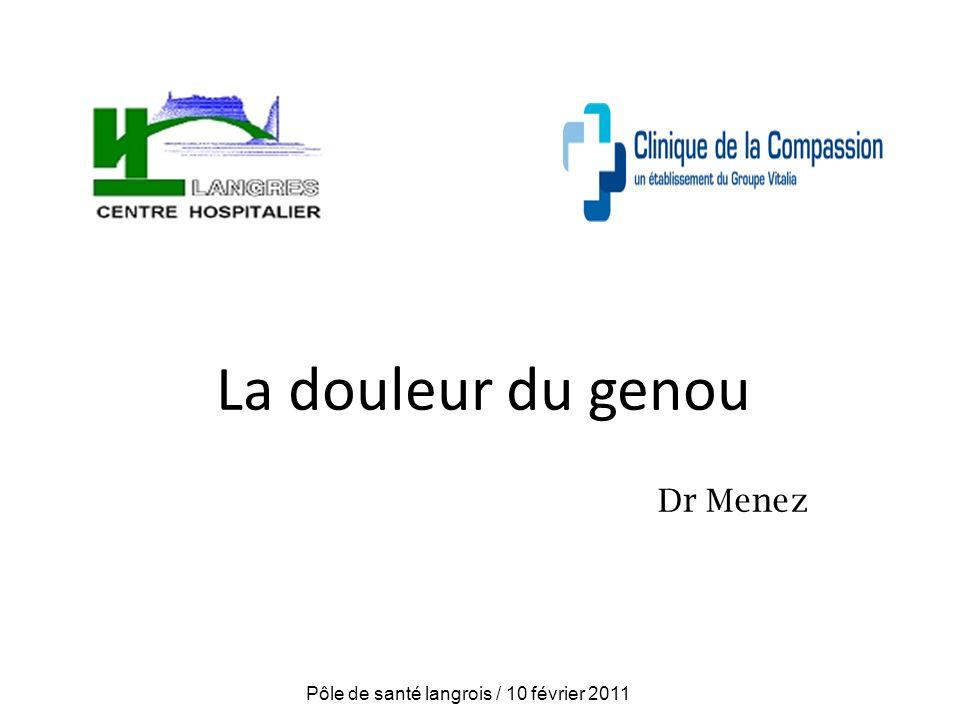 La douleur du genou Dr Menez Pôle de santé langrois / 10 février 2011