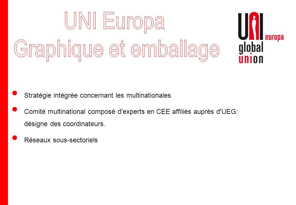Stratégie intégrée concernant les multinationales Comité multinational composé d'experts en CEE affiliés auprès d'UEG: désigne des coordinateurs. Rése