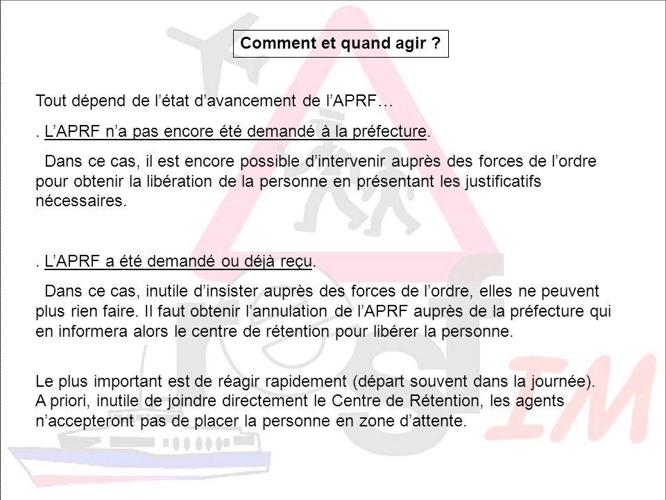 LAPRF a été signé, que faire ?.Auprès de la préfecture : la demande de surseoir.