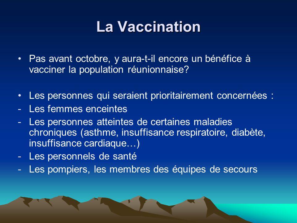 La Vaccination Pas avant octobre, y aura-t-il encore un bénéfice à vacciner la population réunionnaise.