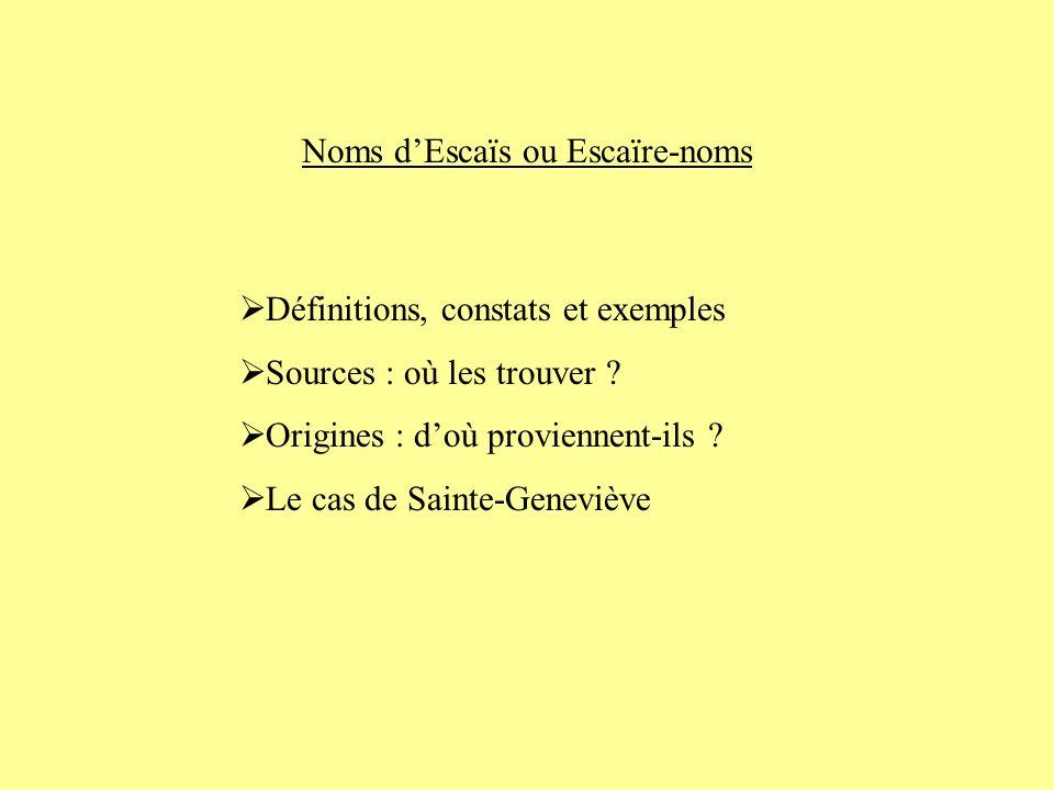 Définitions, constats et exemples Sources : où les trouver .