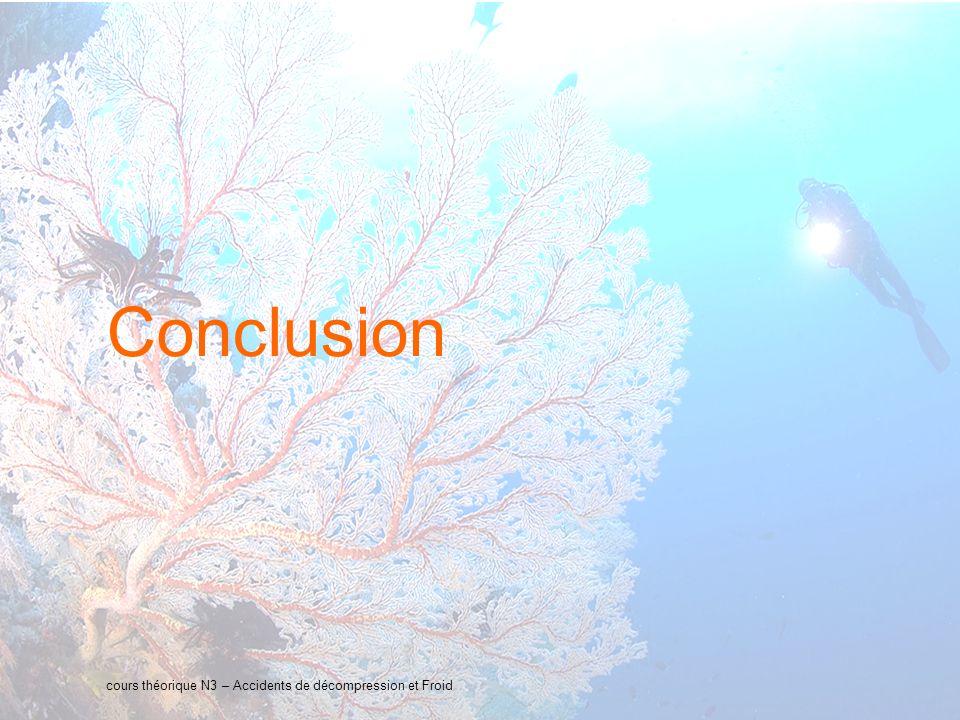 33 interne Orange Conclusion cours théorique N3 – Accidents de décompression et Froid