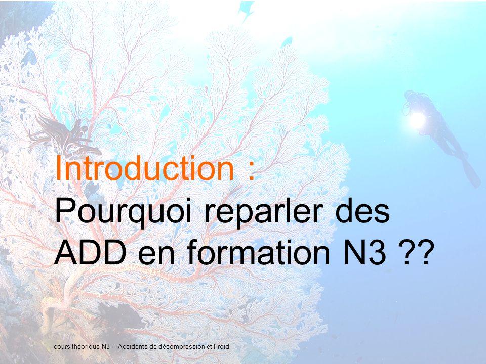 4 interne Orange Introduction : Pourquoi reparler des ADD en formation N3 ?.