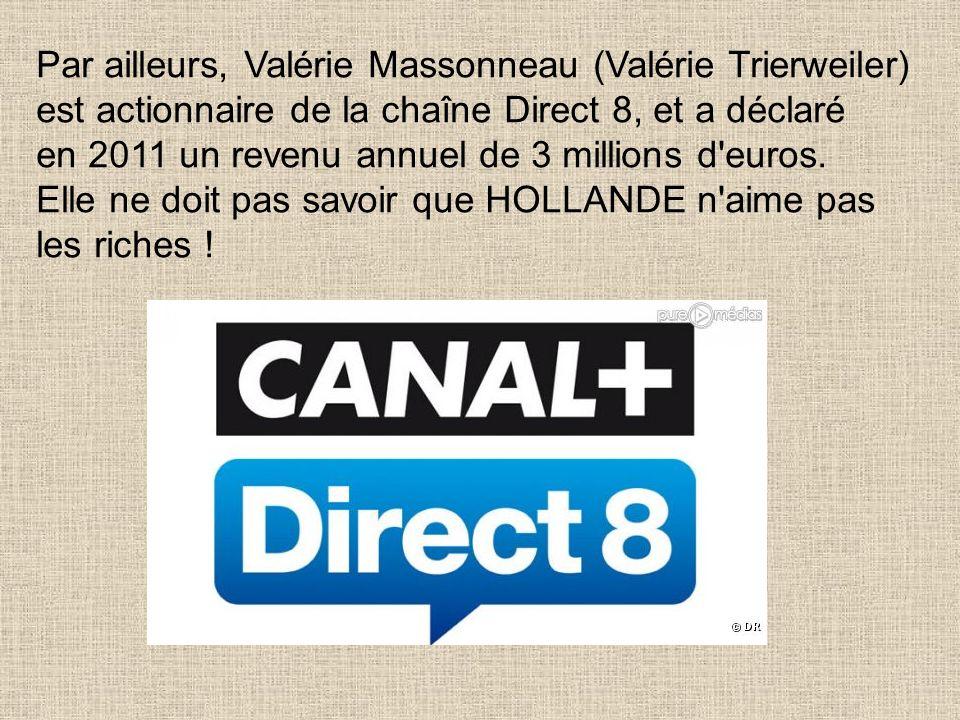 Car elle souhaiterait que l'on ne sache pas qu'elle est en fait Valérie Massonneau, petite fille du fondateur de la banque Massonneau et Cie, qui a ét