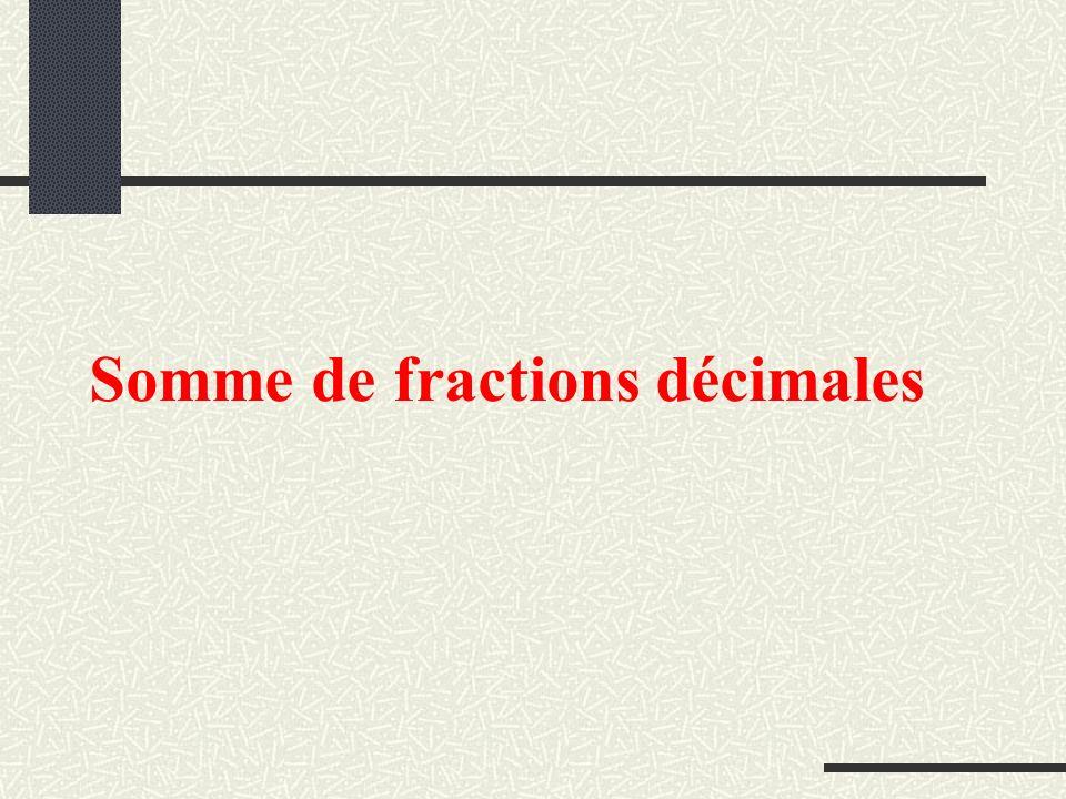 Somme de fractions décimales