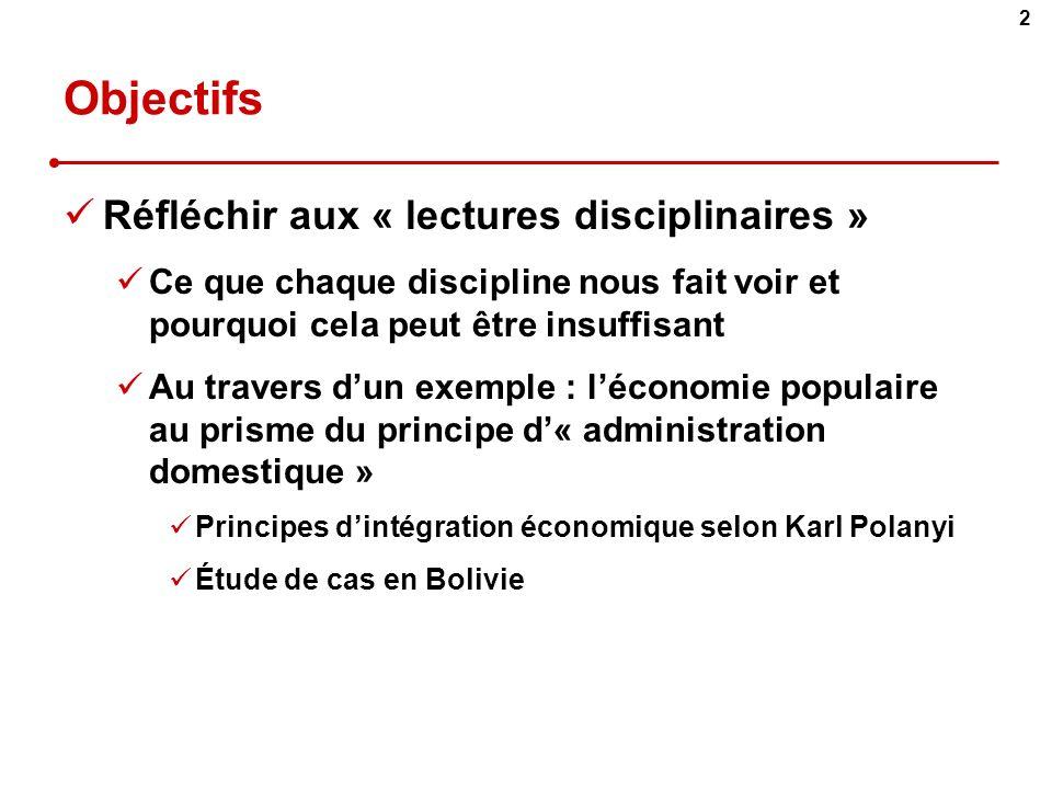 3 Plan I.Cas détude II.Économie traditionnelle, informelle, populaire : trois approches distinctes III.Léconomie populaire, ladministration domestique et léchange marchand