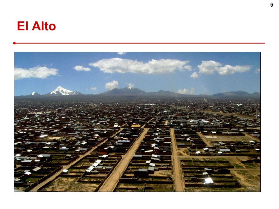 7 Origine des migrations Commerces… 37% Manufacture 25% Services 17% Construction 10% Transports 10% La Paz / El Alto Source : F.