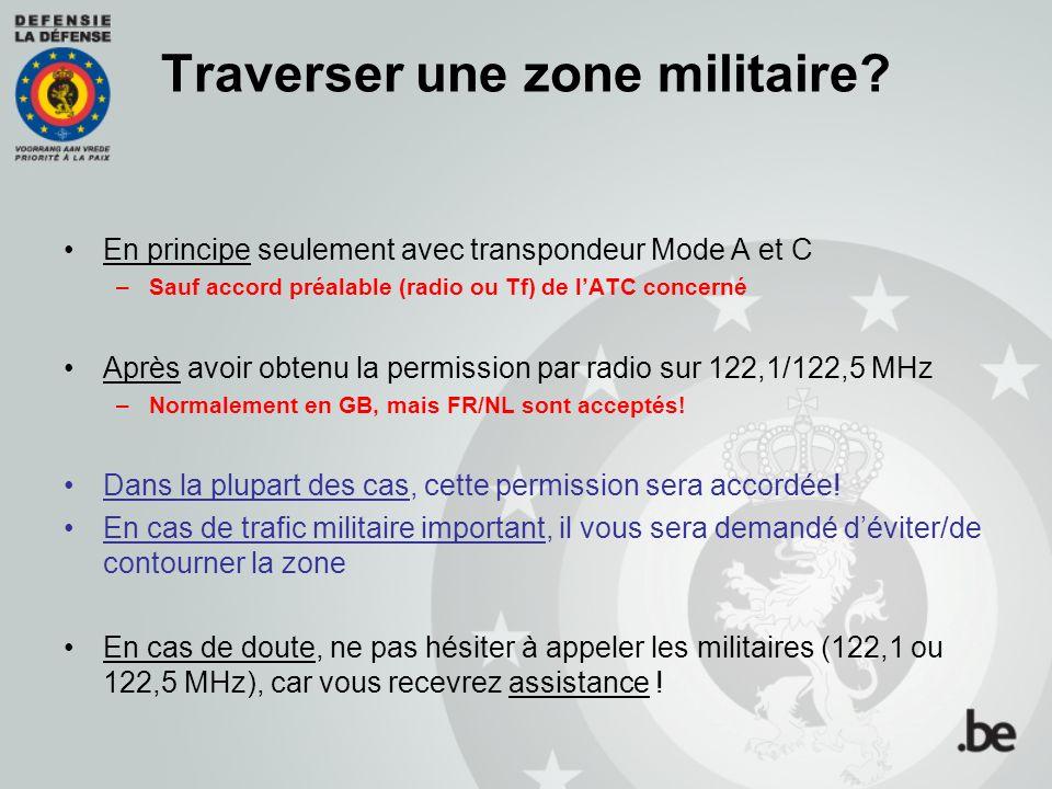 Traverser une zone militaire.