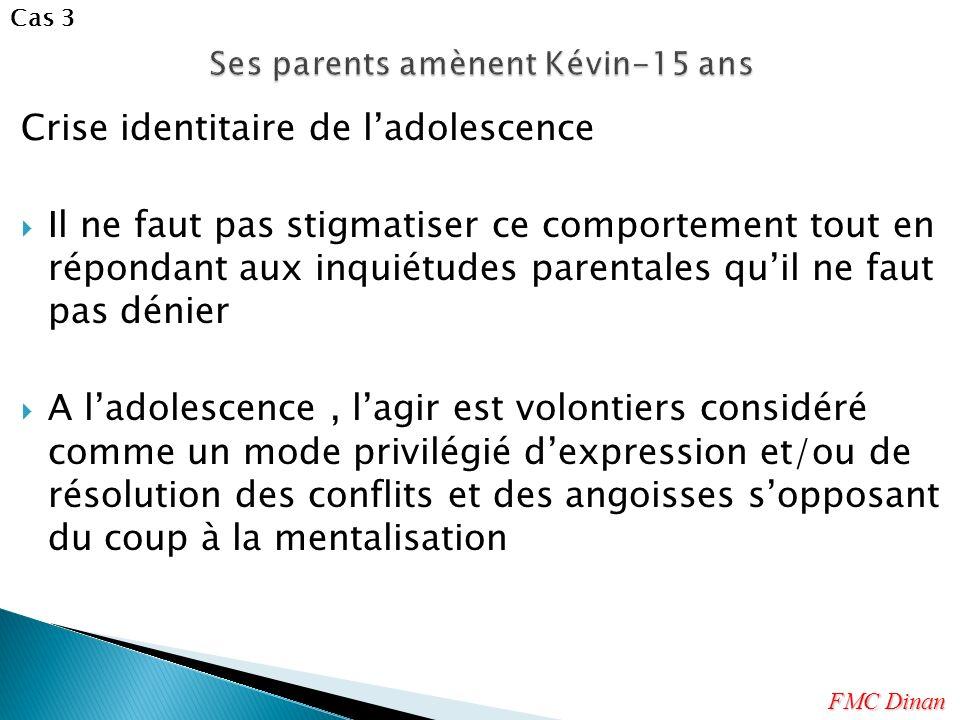 Crise identitaire de ladolescence Il ne faut pas stigmatiser ce comportement tout en répondant aux inquiétudes parentales quil ne faut pas dénier A la