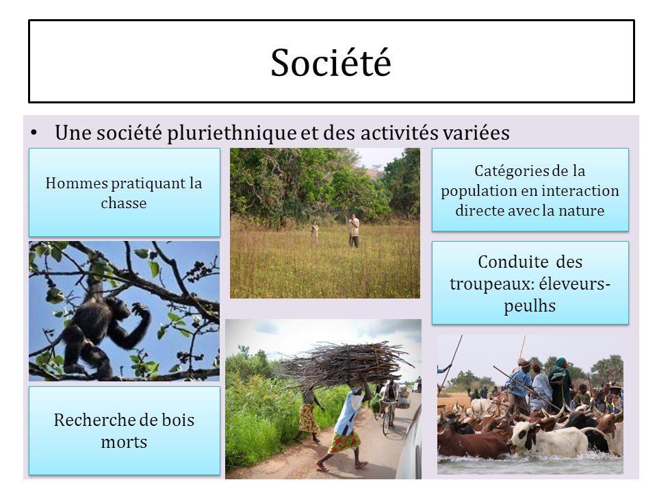 Une société pluriethnique et des activités variées Hommes pratiquant la chasse Catégories de la population en interaction directe avec la nature Reche