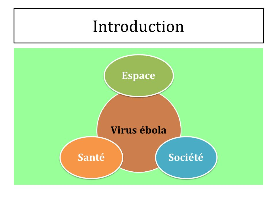 Introduction Virus ébola EspaceSociétéSanté