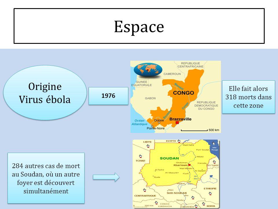Origine Virus ébola Origine Virus ébola 1976 Elle fait alors 318 morts dans cette zone 284 autres cas de mort au Soudan, où un autre foyer est découve