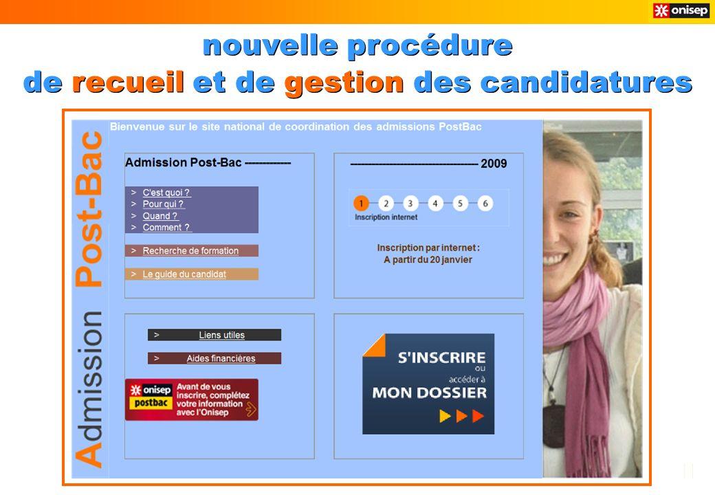 nouvelle procédure de recueil et de gestion des candidatures nouvelle procédure de recueil et de gestion des candidatures