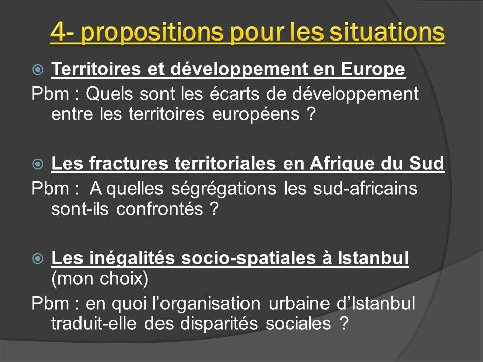 Territoires et développement en Europe Pbm : Quels sont les écarts de développement entre les territoires européens .