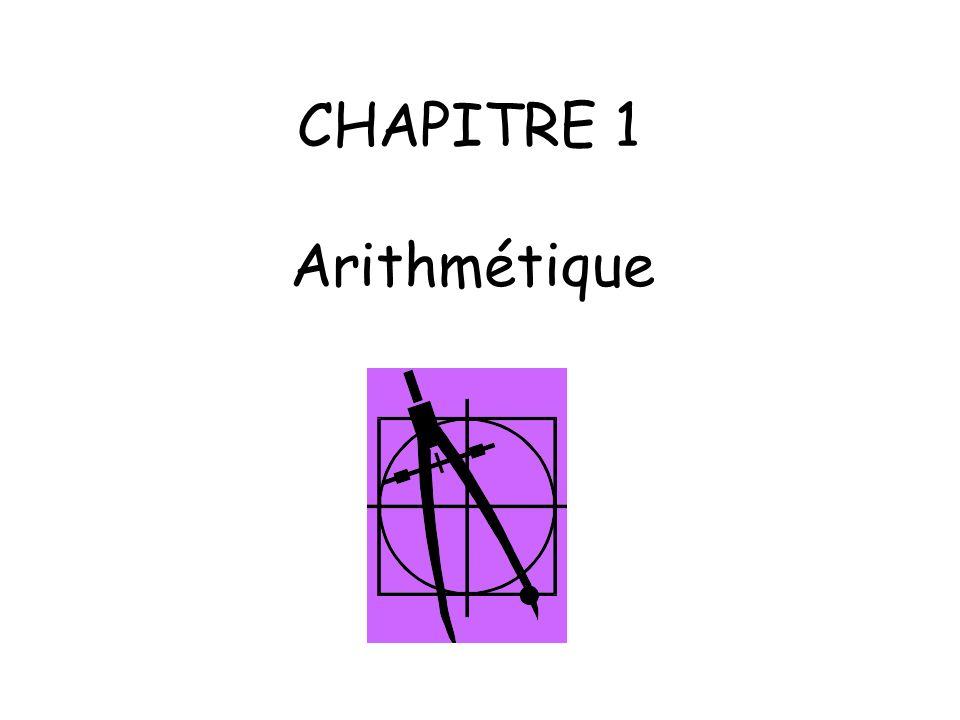 CHAPITRE 1 Arithmétique