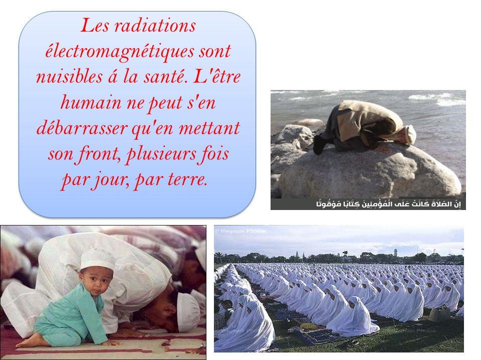Les radiations électromagnétiques sont nuisibles á la santé. L'être humain ne peut s'en débarrasser qu'en mettant son front, plusieurs fois par jour,
