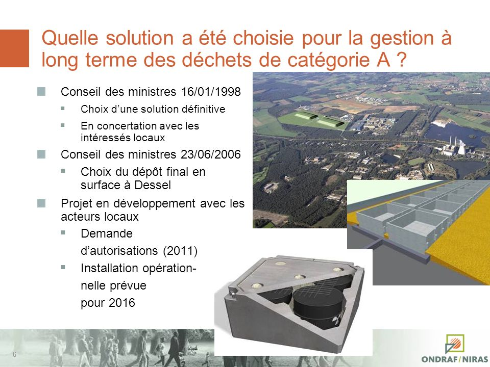 66 Quelle solution a été choisie pour la gestion à long terme des déchets de catégorie A .