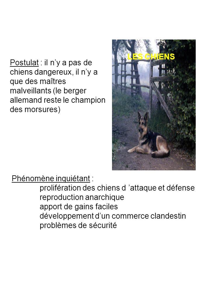Phénomène inquiétant : prolifération des chiens d attaque et défense reproduction anarchique apport de gains faciles développement dun commerce clande