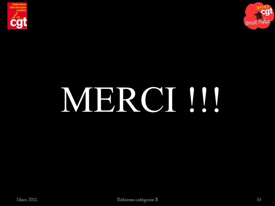 Mars 2011Réforme catégorie B53 MERCI !!!