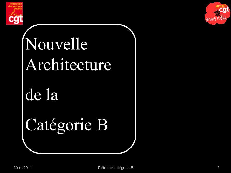 Mars 2011Réforme catégorie B7 Nouvelle Architecture de la Catégorie B