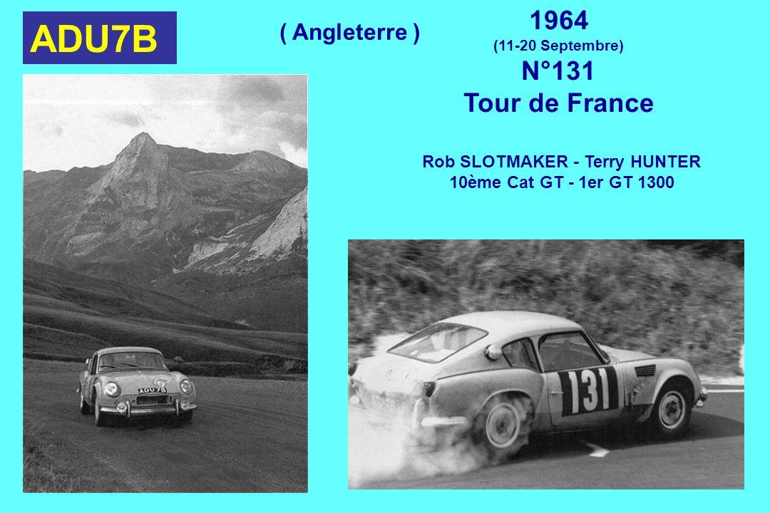 ADU7B 1964 (11-20 Septembre) N°131 Tour de France Rob SLOTMAKER - Terry HUNTER 10ème Cat GT - 1er GT 1300 ( Angleterre )