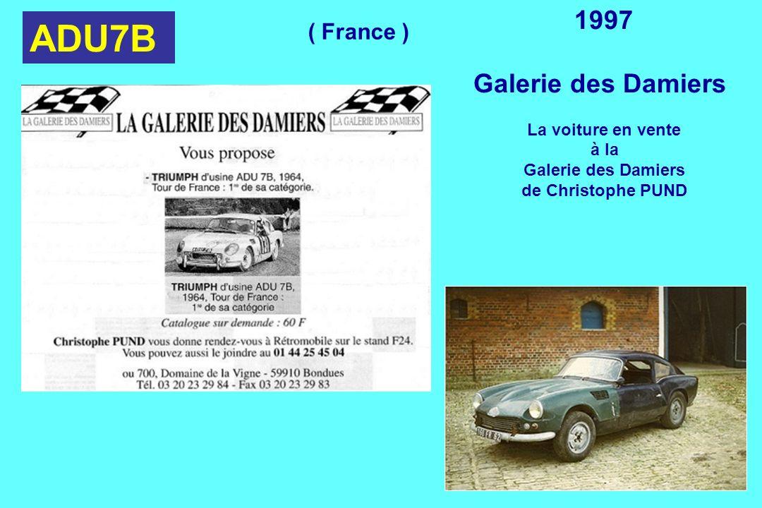 ADU7B 1997 Galerie des Damiers La voiture en vente à la Galerie des Damiers de Christophe PUND ( France )