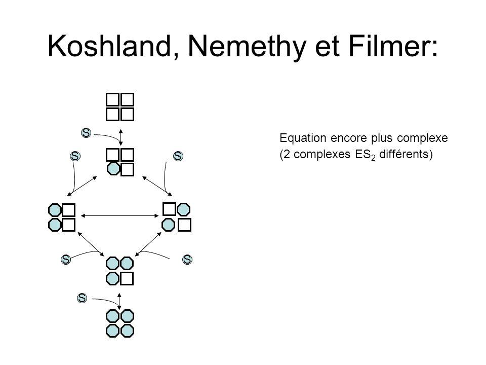 Koshland, Nemethy et Filmer: S S SS SS Equation encore plus complexe (2 complexes ES 2 différents)