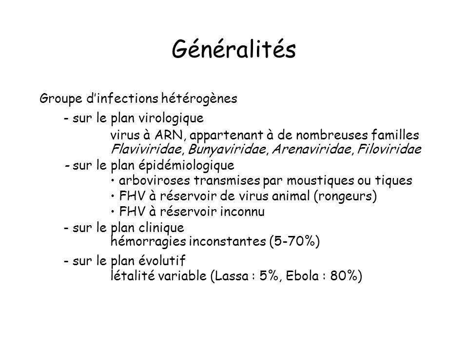 Diagnostic différentiel - éliminer autres maladies fébriles ± hémorragies, ± choc - paludisme à P.