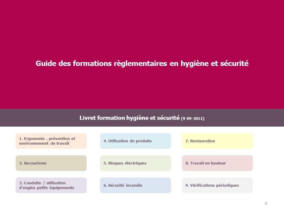 Organisation et management de la sécurité Objectifs de la formation : - Mettre en place une démarche de prévention des risques professionnels dans la structure.