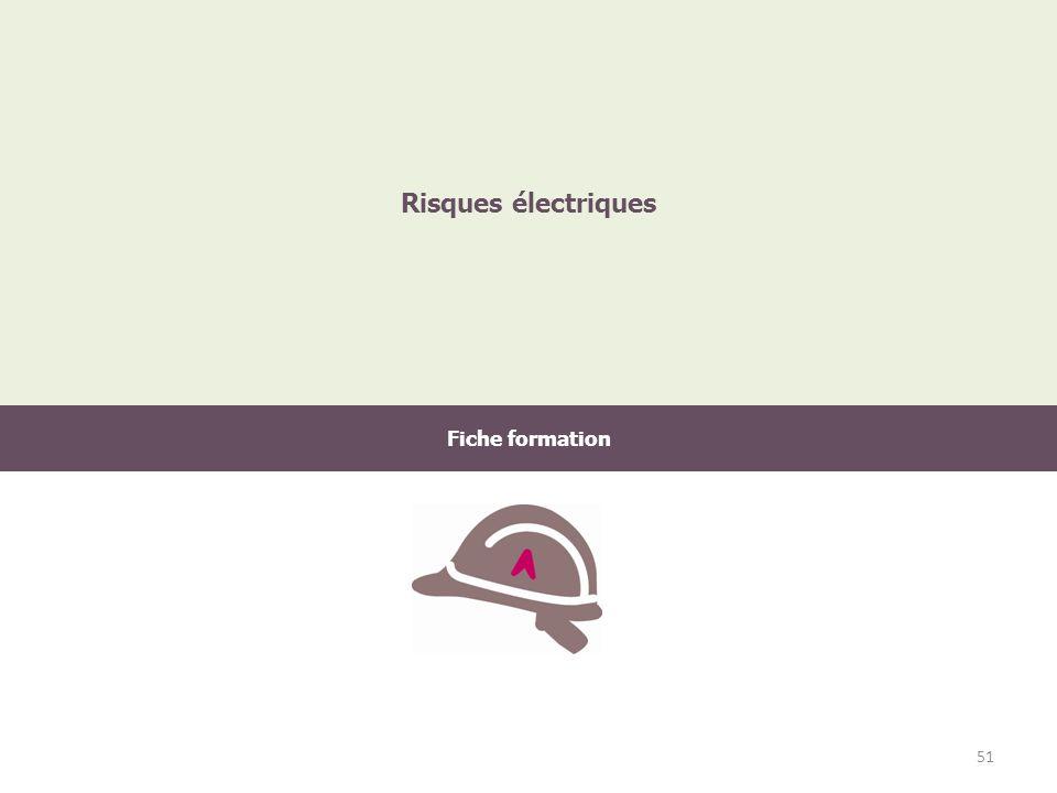 Fiche formation Risques électriques 51