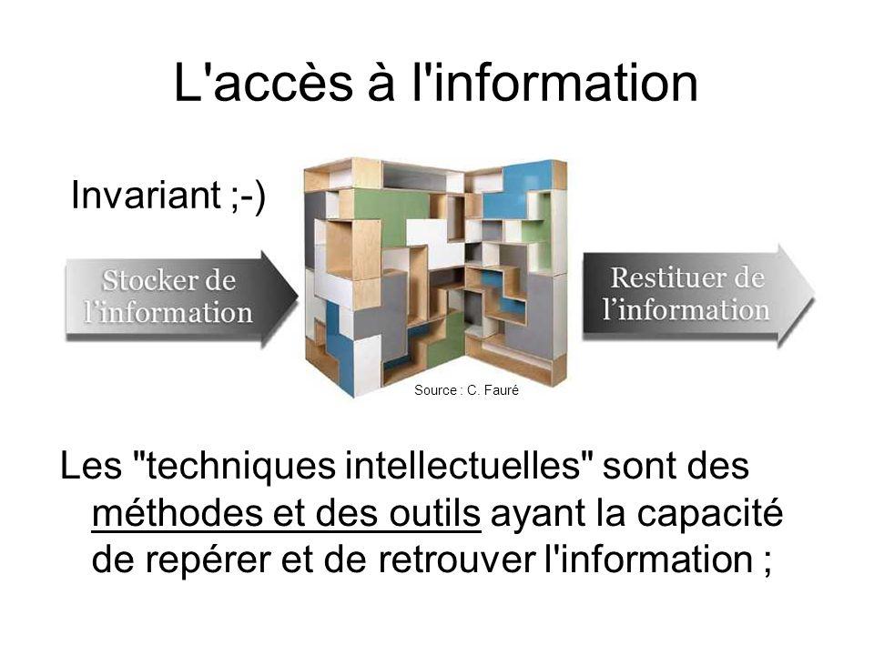 L'accès à l'information Les