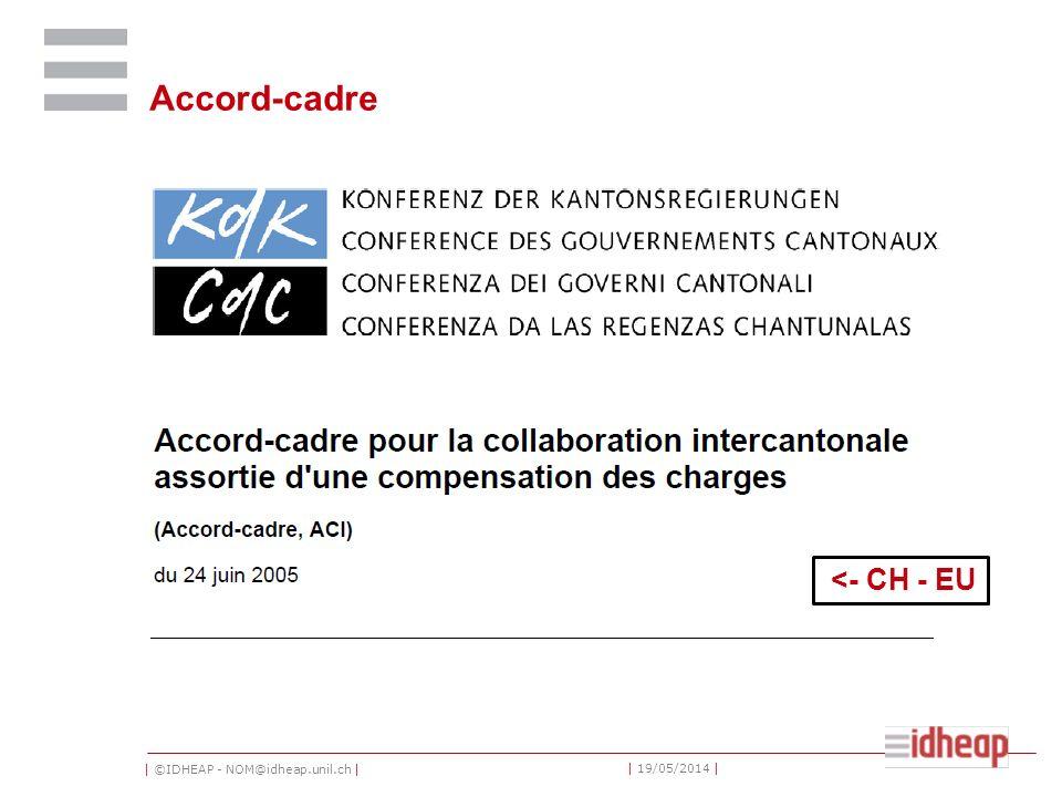 | ©IDHEAP - NOM@idheap.unil.ch | | 19/05/2014 | Accord-cadre <- CH - EU
