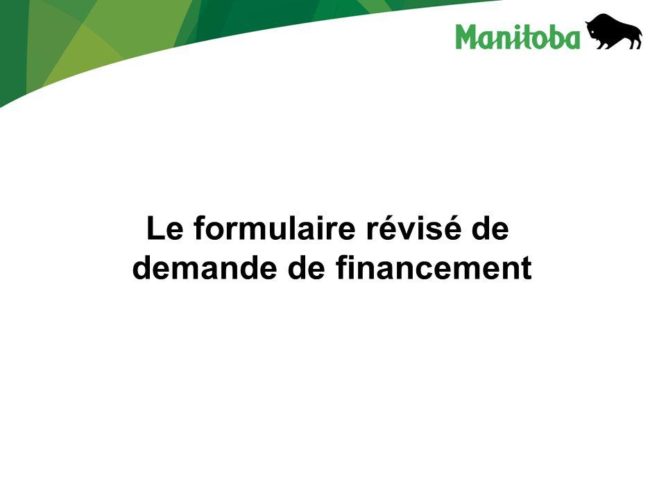 Le formulaire révisé de demande de financement
