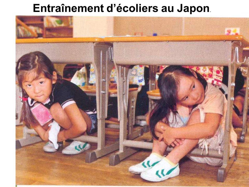 Entraînement décoliers au Japon.