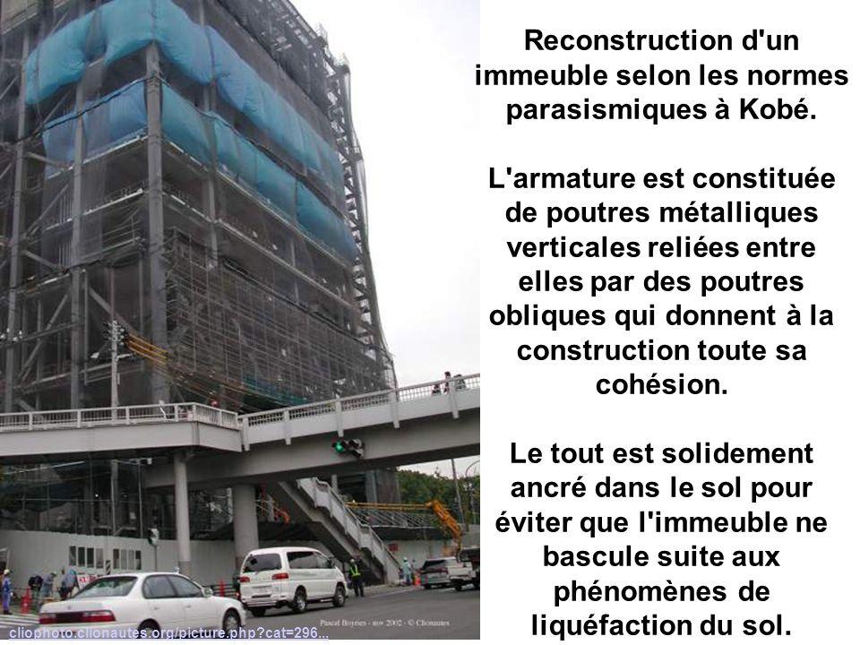 Exemple Reconstruction d un immeuble selon les normes parasismiques à Kobé.