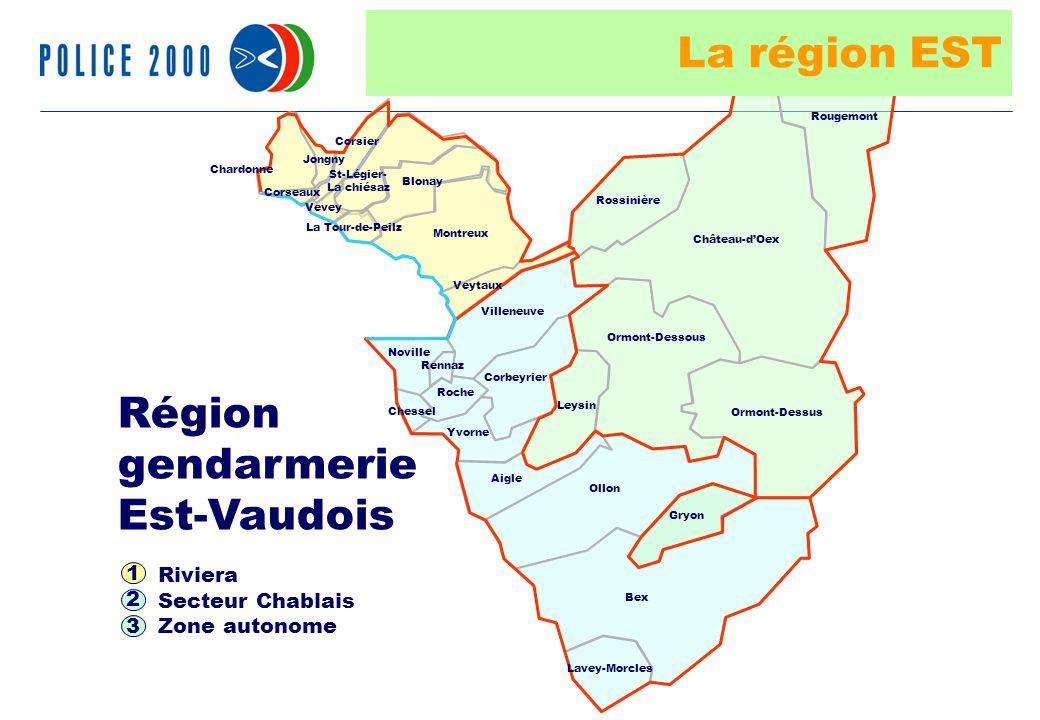 24 Riviera Secteur Chablais Zone autonome Région gendarmerie Est-Vaudois 1 2 3 Jongny Rennaz Chessel Villeneuve Leysin Ormont-Dessous Ormont-Dessus Gr