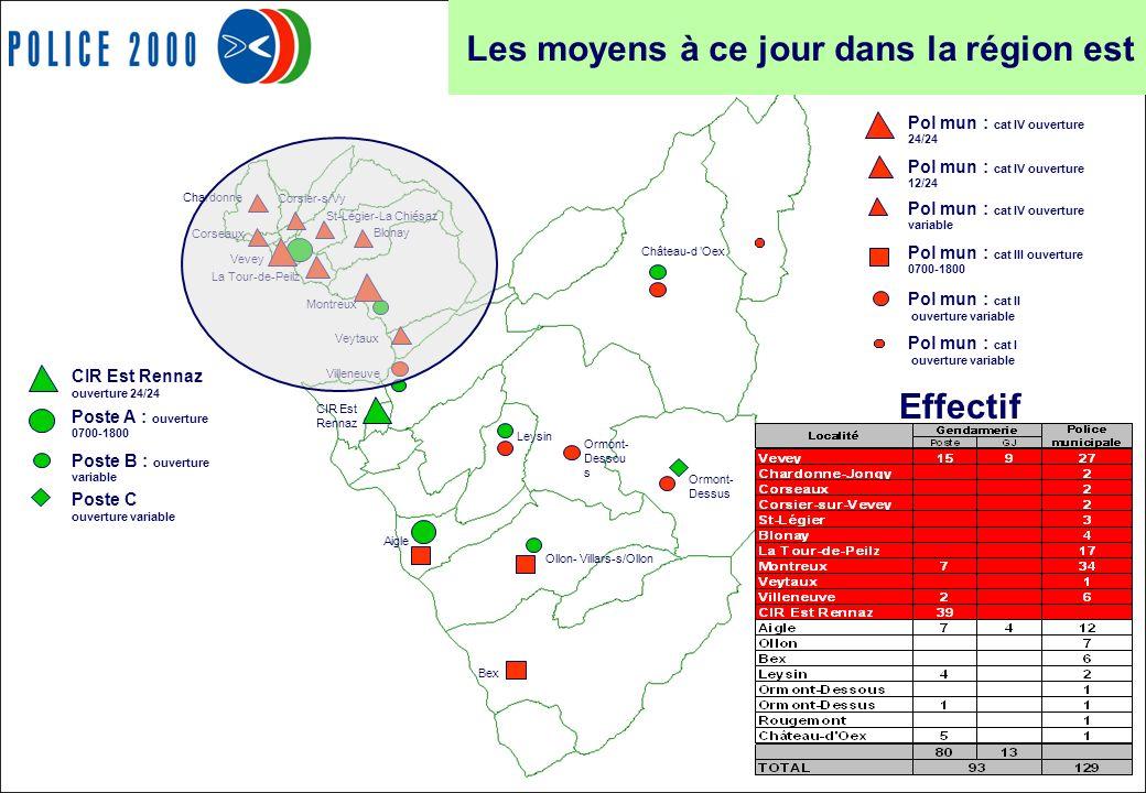 25 Effectif Château-d Oex CIR Est Rennaz Villeneuve Veytaux Montreux Blonay St-Légier-La Chiésaz La Tour-de-Peilz Vevey Corsier-s/Vy Corseaux Leysin O