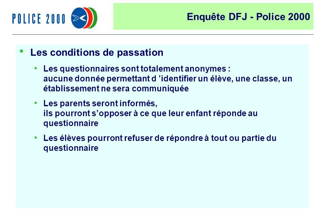 45 Les conditions de passation Les questionnaires sont totalement anonymes : aucune donnée permettant d identifier un élève, une classe, un établissem