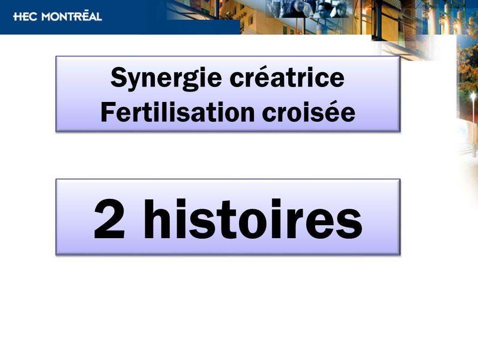 2 histoires Synergie créatrice Fertilisation croisée Synergie créatrice Fertilisation croisée