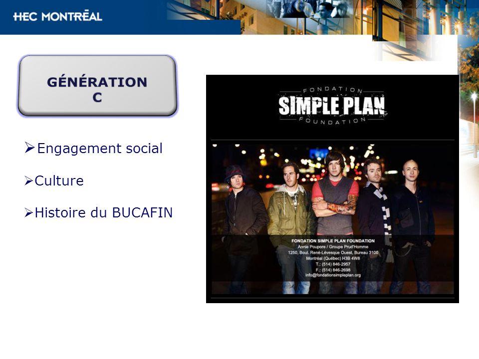 Engagement social Culture Histoire du BUCAFIN