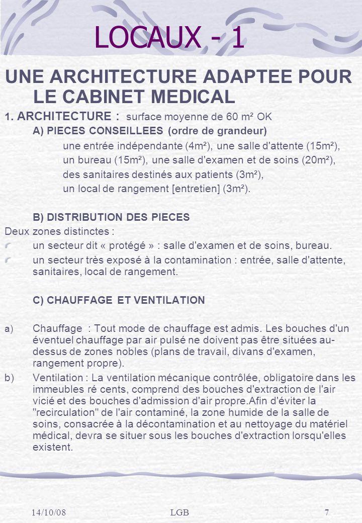 14/10/08LGB18 Gestion des dispositifs médicaux (DM) - 1 EN RESUME, QUE RETENIR .