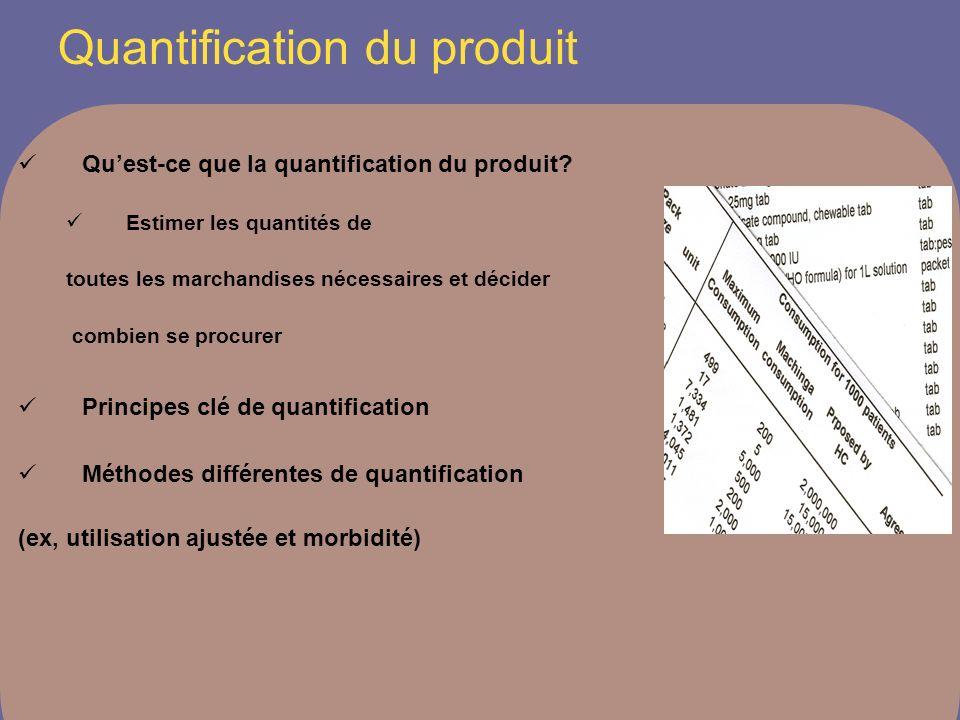 Quest-ce que la quantification du produit.